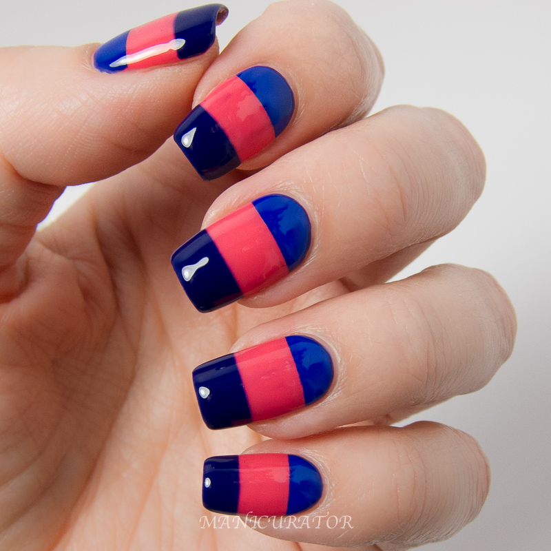 Easy Nail Art Using Tape: Manicurator: KBShimmer Early Summer 2014 Creams