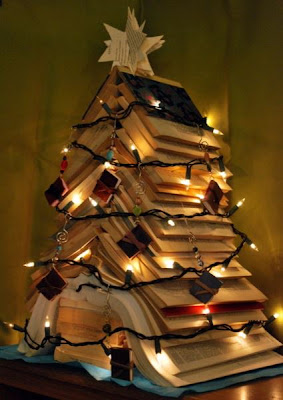 Christmas Three, Árvore de Natal, Sapin de Nöel, Árvore de Natal de Livros, Books Christmas Three