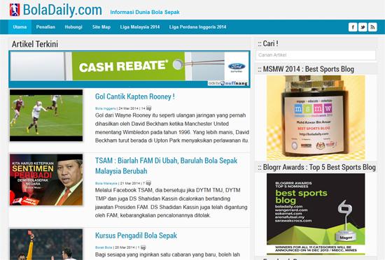 Blog kategori sukan terbaik di Malaysia 2014