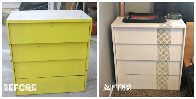 Custom Stencilled Dresser: Before & After