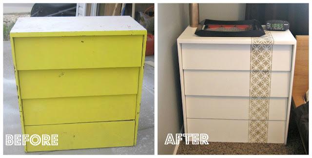 Custom Stencilled Dresser: Before & After
