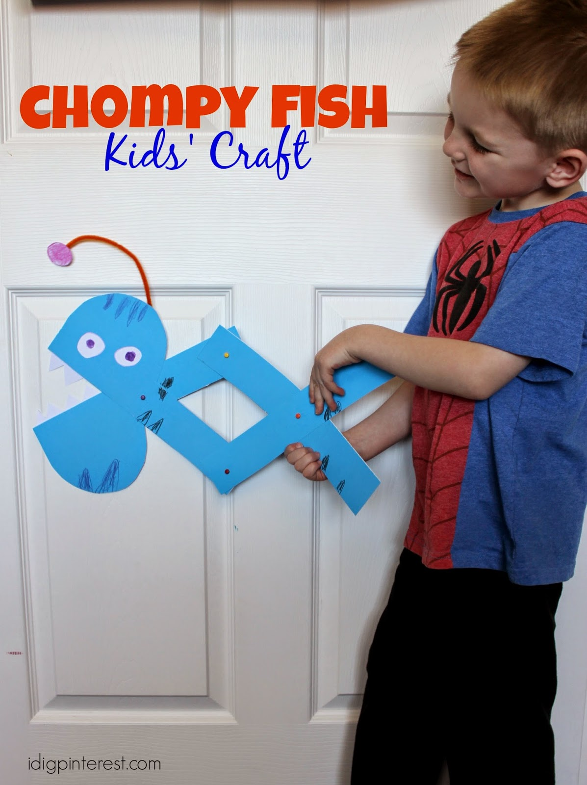 Chompy Fish Kids Craft I Dig Pinterest