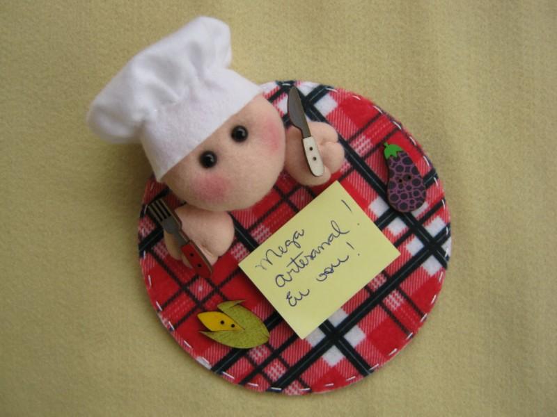 Aparador Mesa Retratil ~ Arte e Mimos Artesanato em feltro Mini Porta Recados do Cozinheiro!!! No programa Vida Melhor!