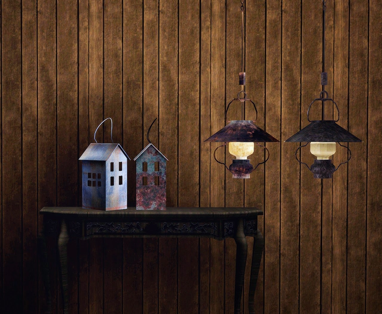 Ceiling Lamps and Decor by BlueHopperSimming
