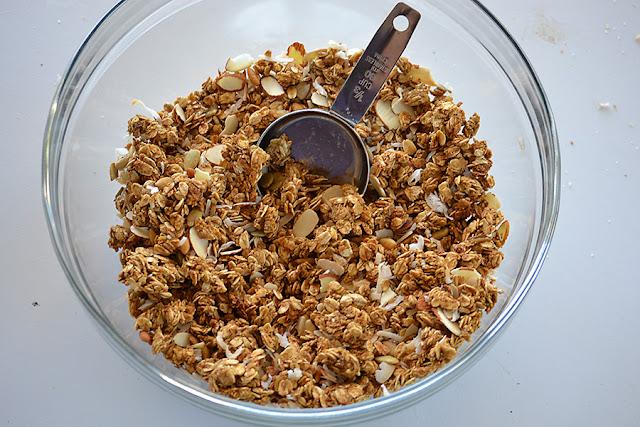 """we make granola we try a """"Peanut Granola."""" I think homemade granola..."""