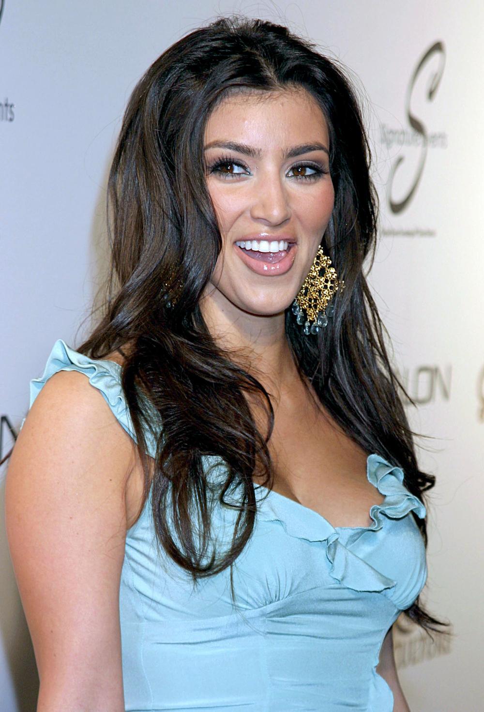 Kim Kardashian Dark Hair Color 09