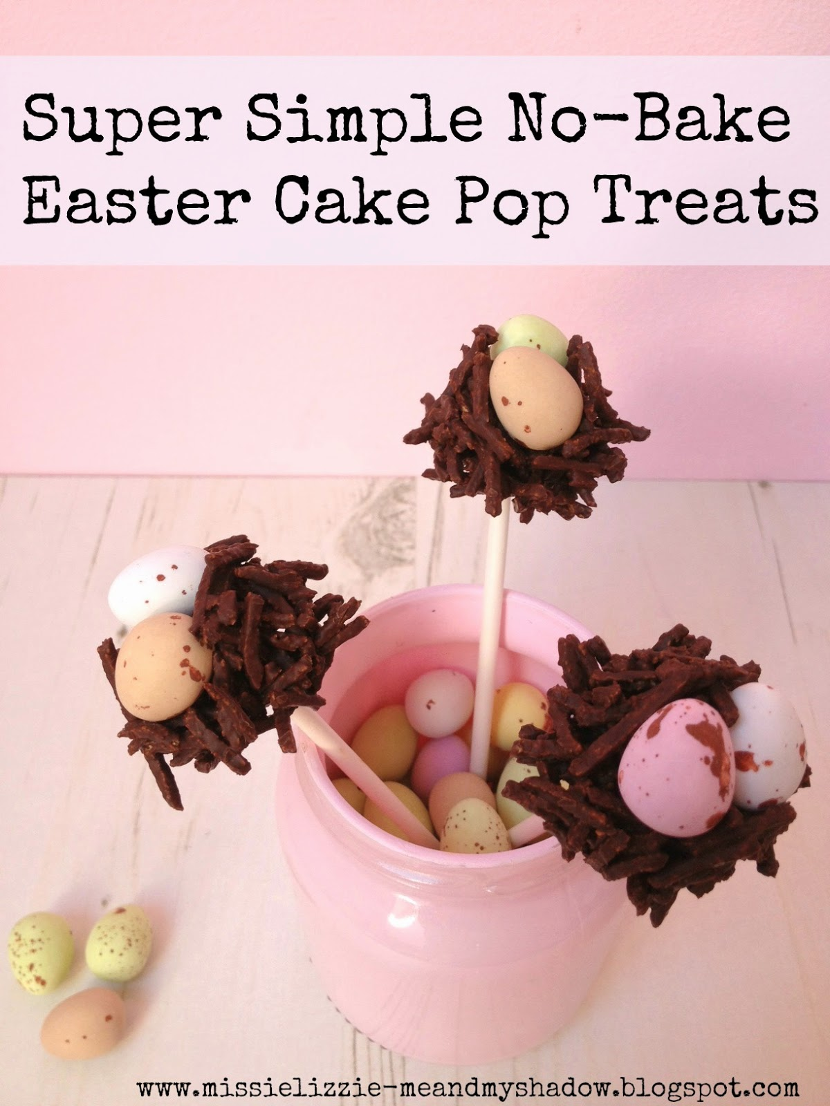 How to make simple Easter chocolate krispie nest egg cake pops