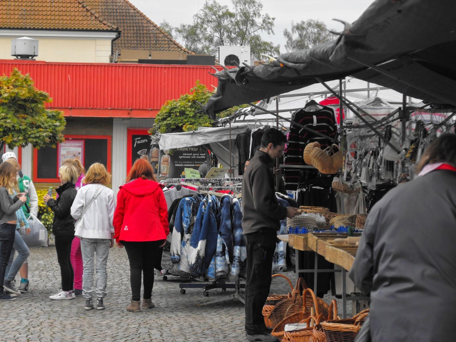 Höstmarknad i Sösdala, höstmarknad, Sösdala, marknad, knallar