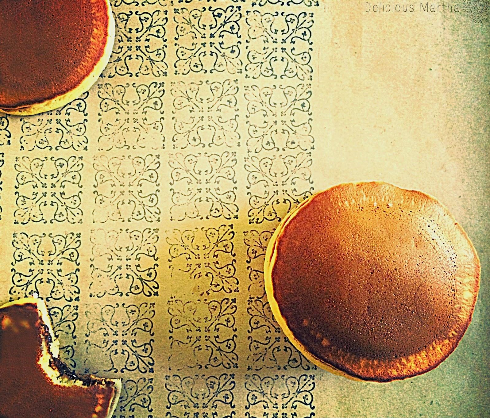 Dorayakis rellenos de crema de chocolate