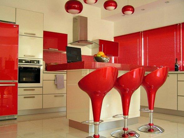 Red Kitchen Units
