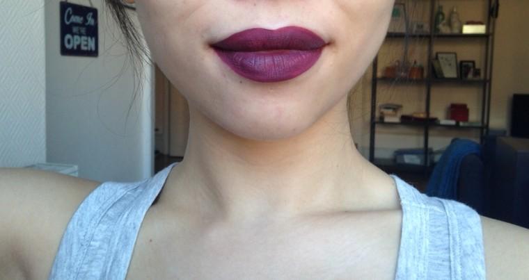 H&M Beauty Velvet Lip cream Dare Me swatch