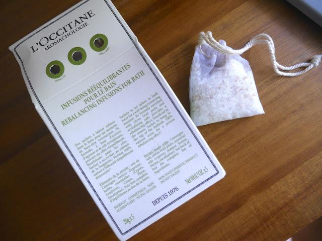 l'occitane rebalancing range rebalancing infusions for bath review