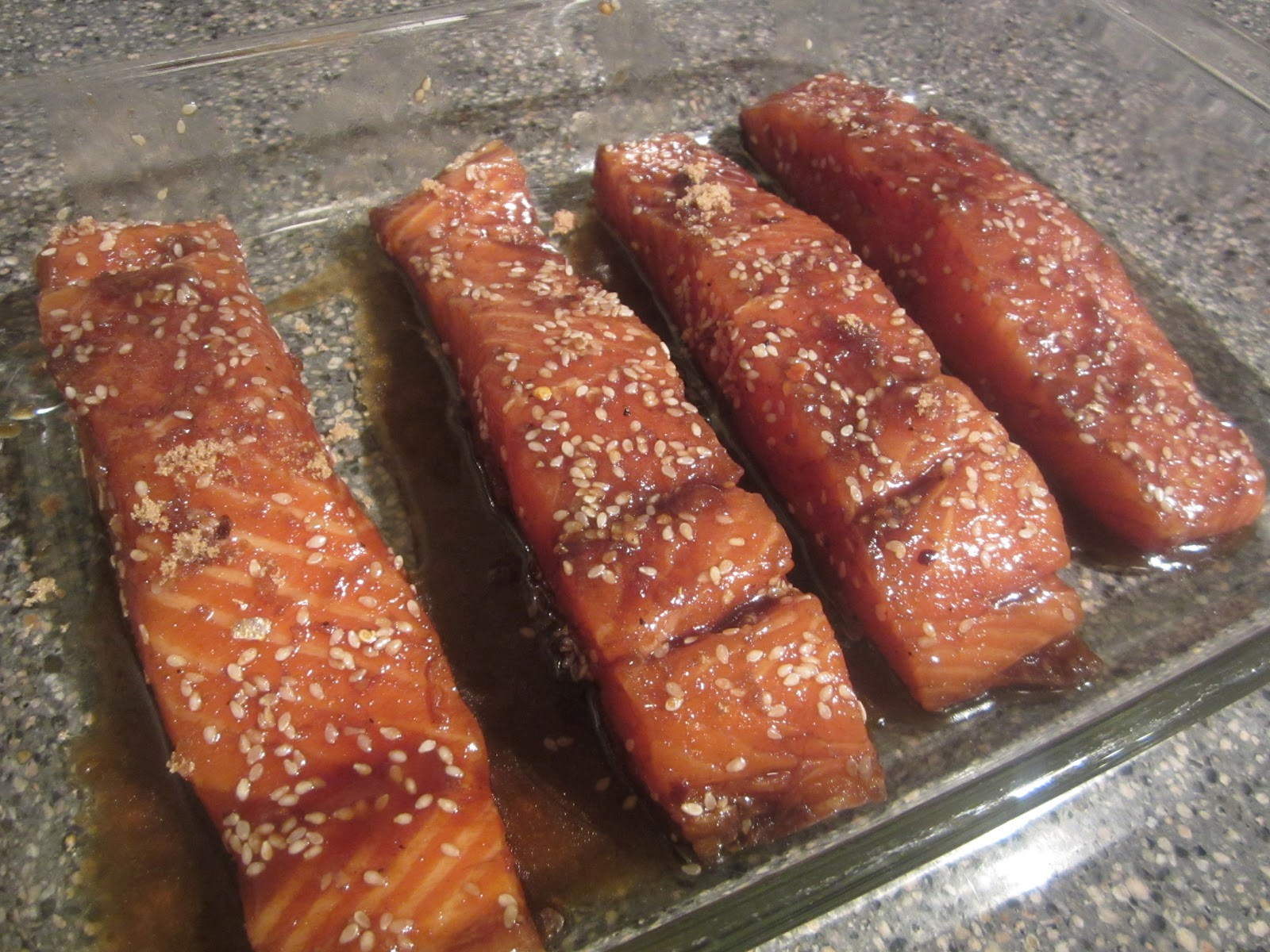 Pie Birds, Buttons and Muddy Puddles: Baked Teriyaki Salmon