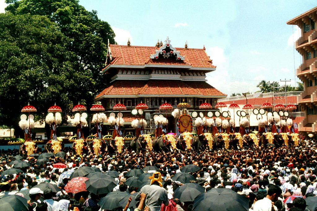 The Thrissur Pooram (Google Image Search)