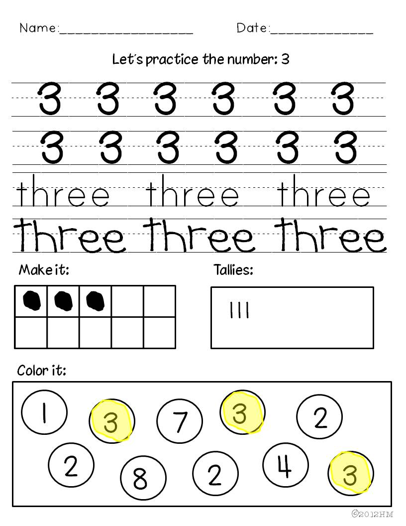 Teaching Numbers - Miss Kindergarten