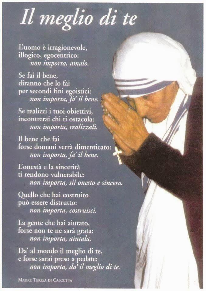 Connu Gruppo Famiglia: Madre Teresa di Calcutta - Il Meglio di Te YW44