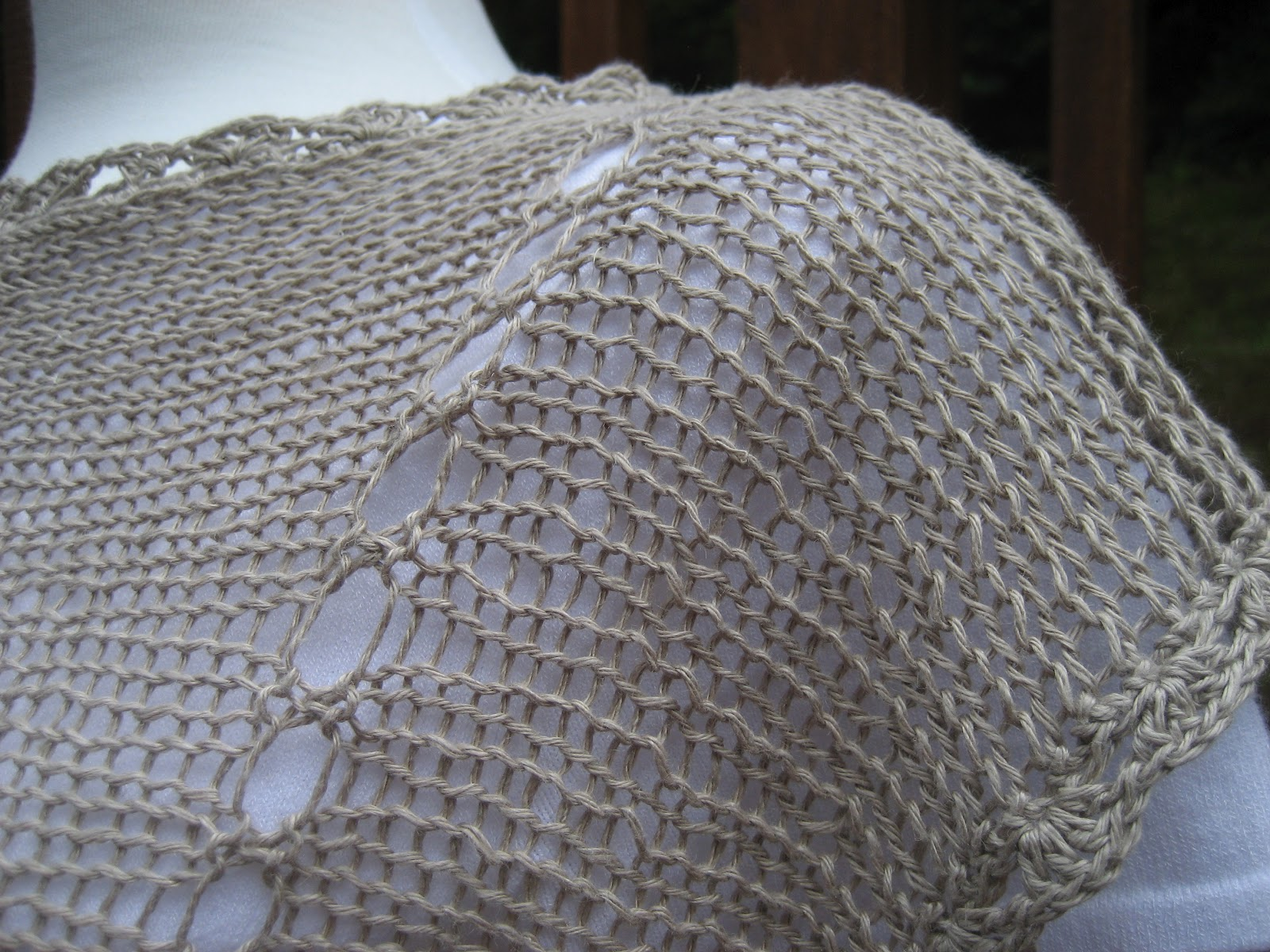 My project has been renamed ? Linen Top with Crochet Edgings ? . I ...