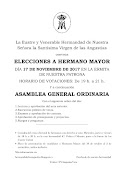 CONVOCATORIA DE ELECCIONES A HERMANO MAYOR