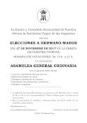 CONVOCATORIA DE ELECCIONES A HERMANO MAYOR