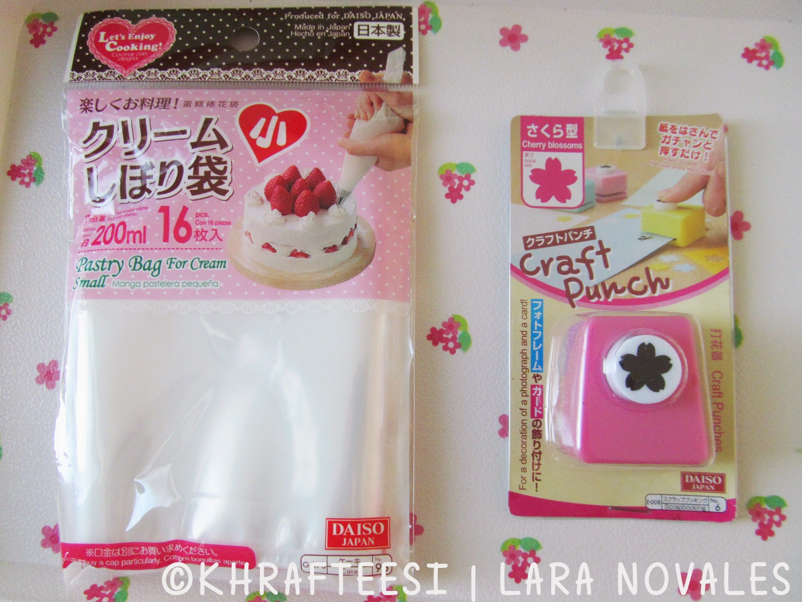 Icing bag from Daiso Saizen and Sakura puncher