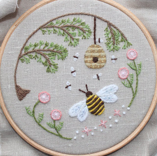 Bee's World Crewel Embroidery Kit - Theflossbox