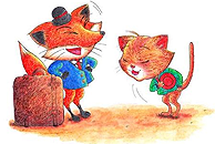 The Fox and the Cat by Haidi Shabrina