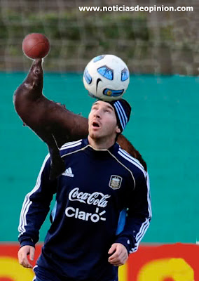 Humor: Messi retocado con Photoshop