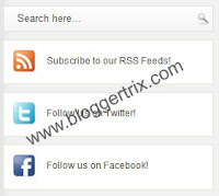 Add Social Media Share Widget With Search Box For Blogger