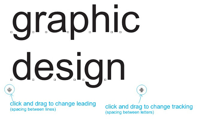 change tracking and leading in coreldraw