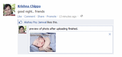 upload photo in facebook comments