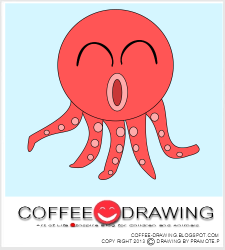 สอนเด็กวาด รูปการ์ตูน ... Octopus Cartoon Images