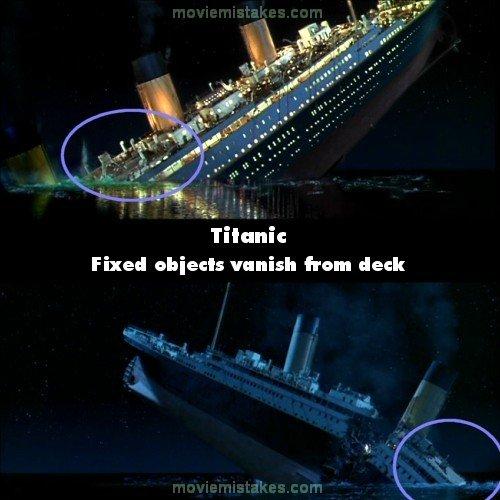 Titanic Movie: Titanic Movie Mistakes