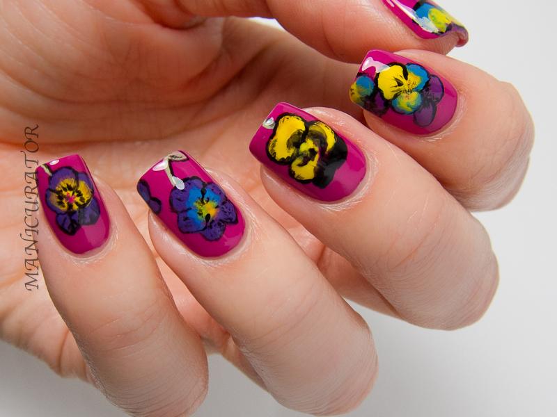 KBShimmer-Pansy-Flower-Nail-Art-Spring-2014-Cream-Creme