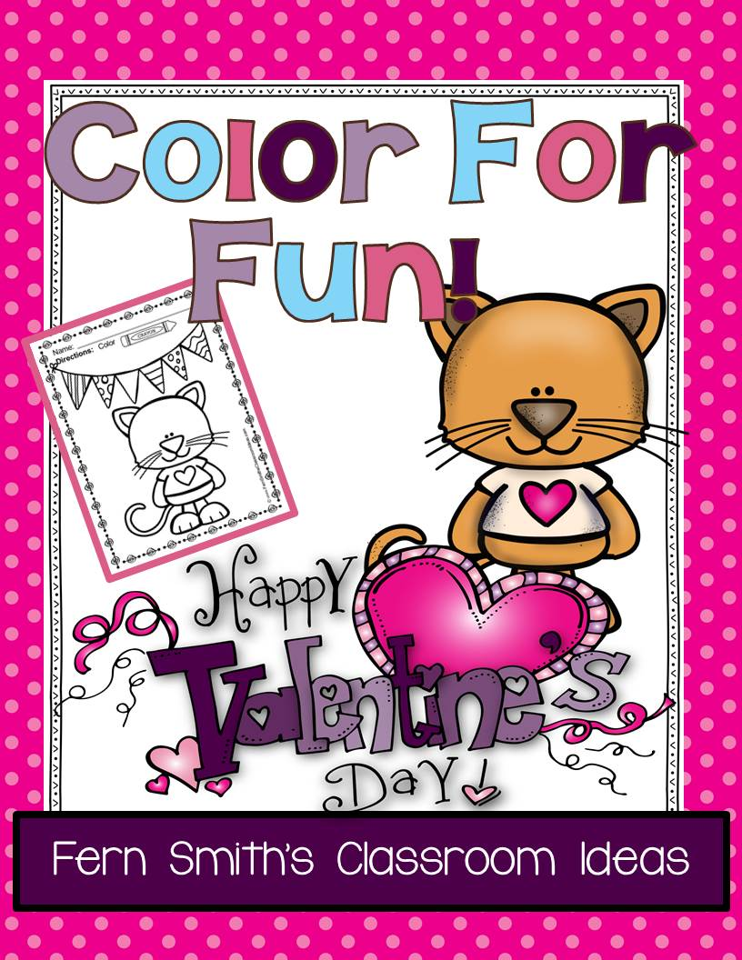https://www.teacherspayteachers.com/Product/St-Valentines-Day-Fun-Color-For-Fun-Printable-Coloring-Pages-1661857
