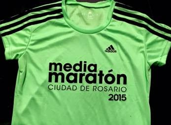 Remera Media Maraton Rosario 2015