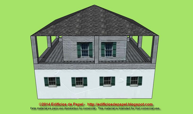 Edificios de Papel - 2014 - Maqueta de papel de casa colonial
