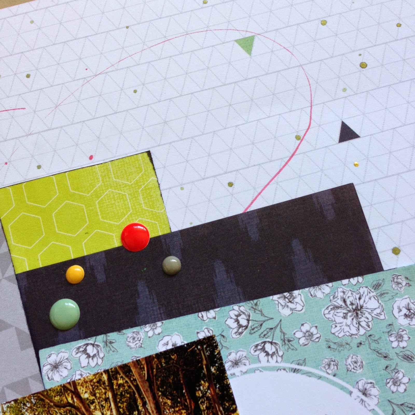 Detail from 'Amazing' - Layout by Tracey Kinny for Dizzy Izzy Scrapbooking