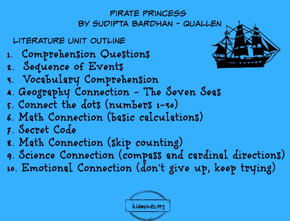 Pirate Princess - Literature Unit with printables - KidMinds