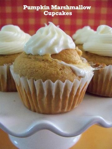 recipe, cupcakes, marshmallow, pumpkin