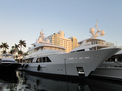Go Yacht. The largest, most expensive, brand new yacht at the Miami yacht and brokerage show