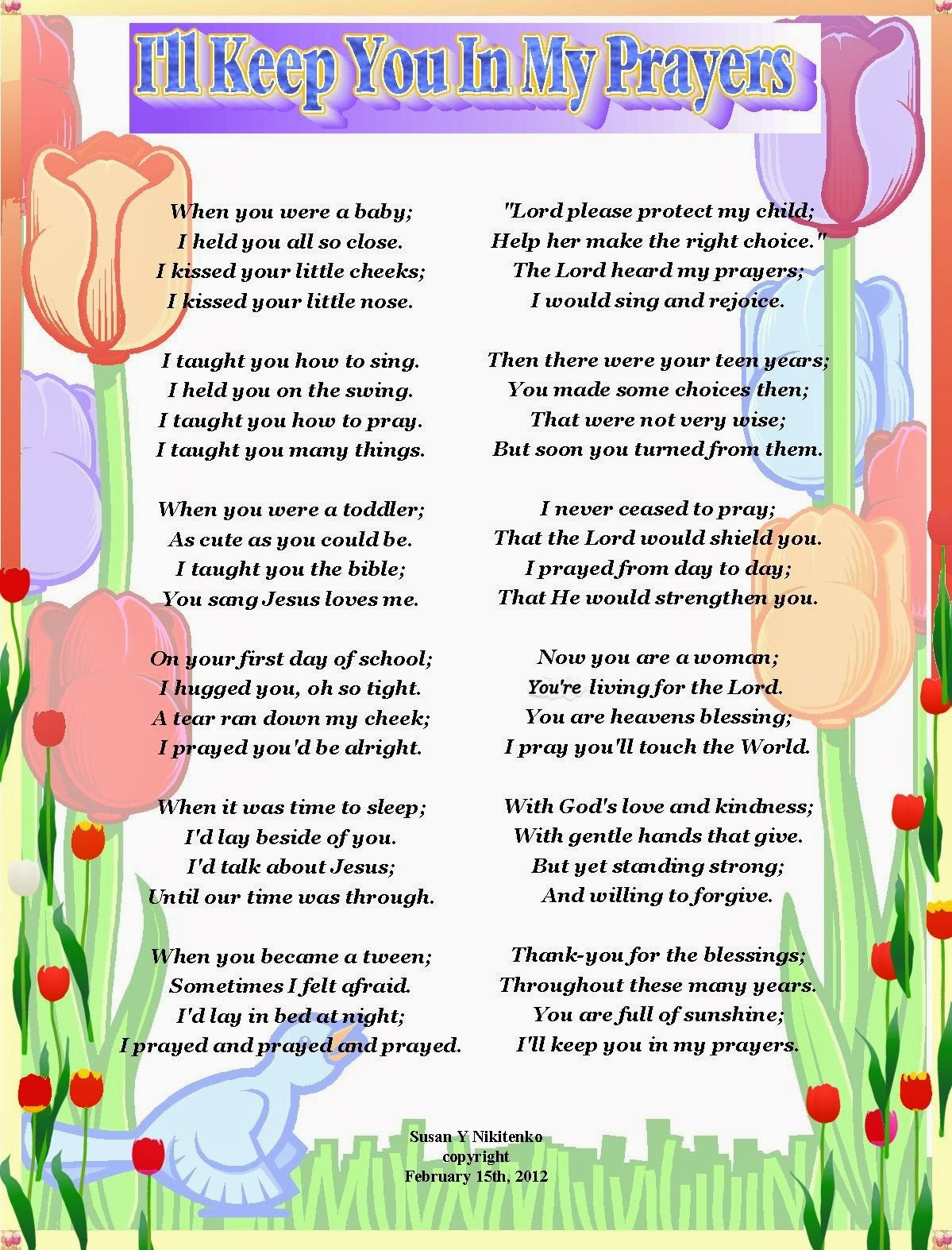 Christian Mother's Day 2014 Poems For Children