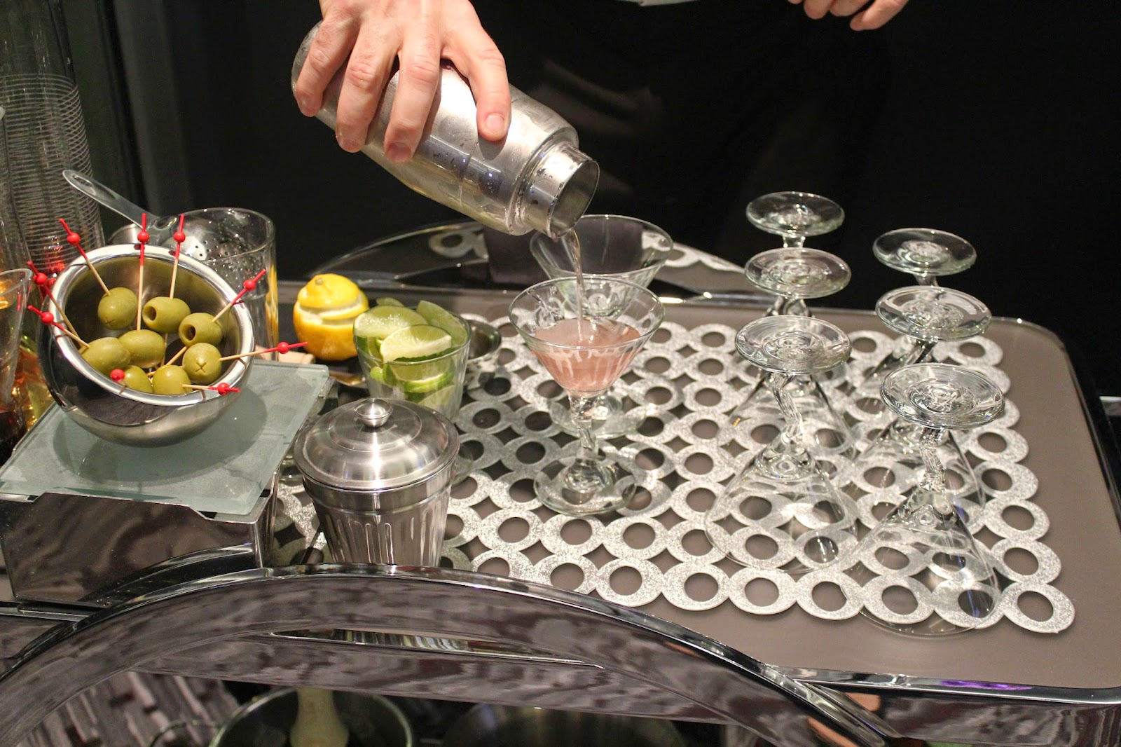 Bar cart at Motif at the Royal Sonesta Boston