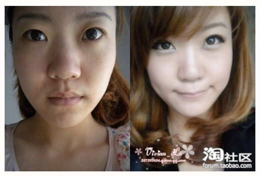 asian girls with and without makeup extremely weird stuff
