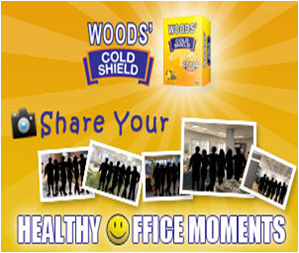 Woods' Cold Shield 'Healthy Office Moments' Contest