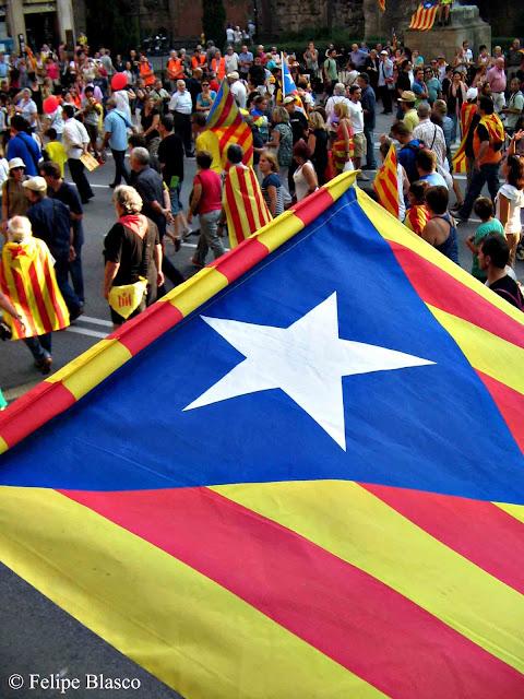 Manifestación independentista Diada 2012