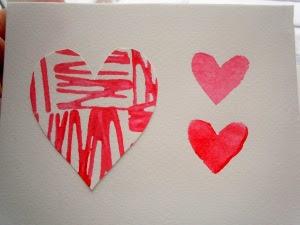 DIY postal San Valentin. Valentine's card