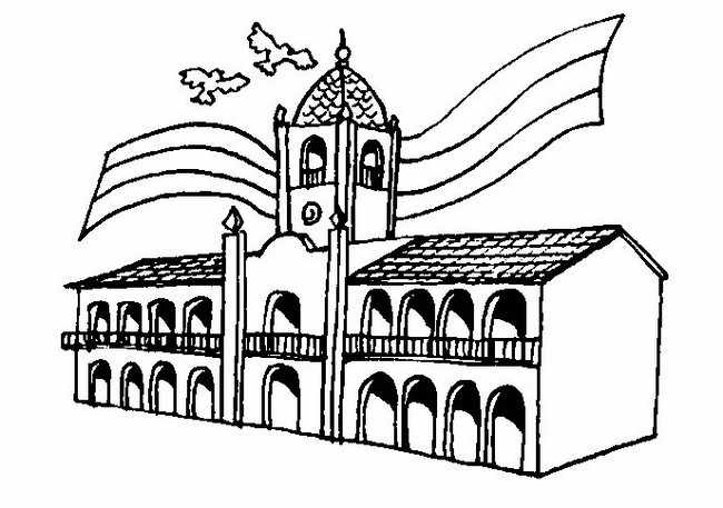LAMINAS COLEGIALES PARA IMPRIMIR Y RECORTAR Casa de Tucuman y