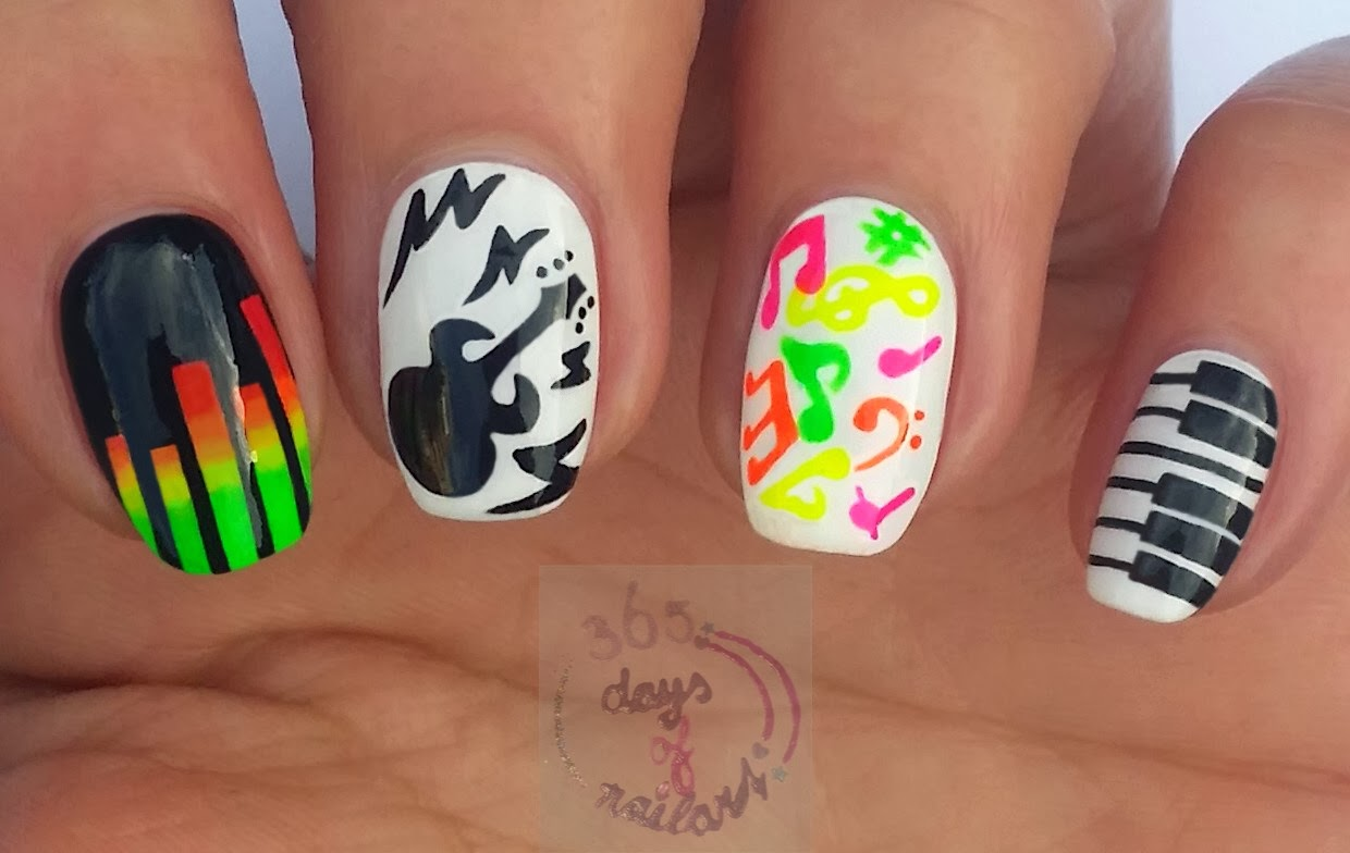 365+ days of nail art: Day 302) I\'ve got the music in me