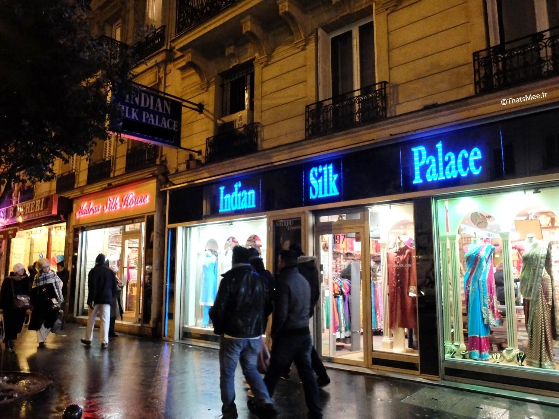 quartier indien  néons boutique Gare du Nord Paris