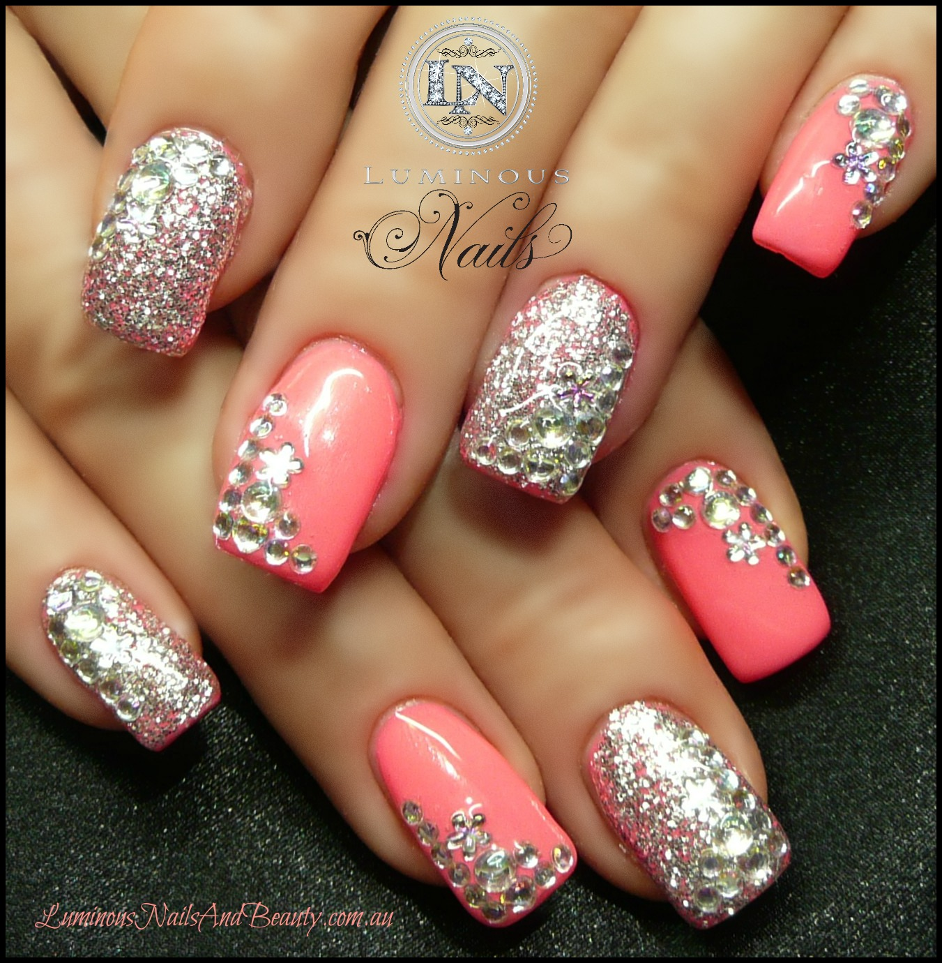 Nail Art Designs With Glitter Polish